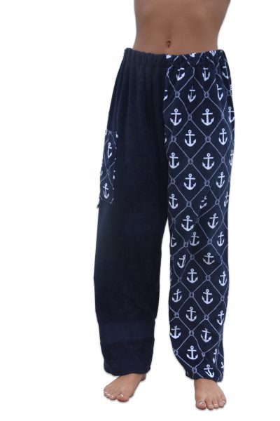 anchor towel pants, front view, girl